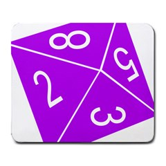 Number Purple Large Mousepads by Mariart