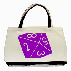 Number Purple Basic Tote Bag by Mariart
