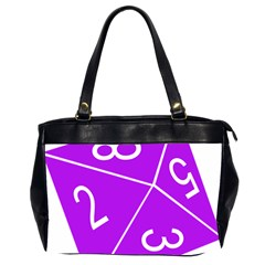 Number Purple Office Handbags (2 Sides)  by Mariart