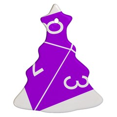 Number Purple Christmas Tree Ornament (two Sides) by Mariart