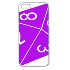 Number Purple Apple Seamless Iphone 5 Case (clear) by Mariart