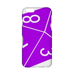 Number Purple Apple Iphone 6/6s Hardshell Case by Mariart