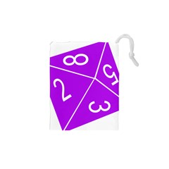 Number Purple Drawstring Pouches (xs)  by Mariart