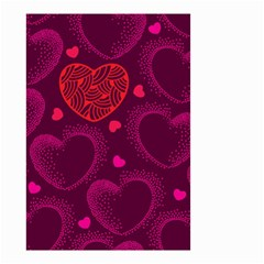 Love Heart Polka Dots Pink Small Garden Flag (Two Sides)