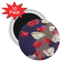 Original Butterfly Carnation 2 25  Magnets (10 Pack)  by Mariart