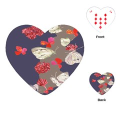 Original Butterfly Carnation Playing Cards (heart)  by Mariart