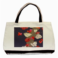 Original Butterfly Carnation Basic Tote Bag by Mariart