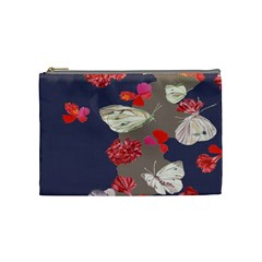Original Butterfly Carnation Cosmetic Bag (medium)  by Mariart