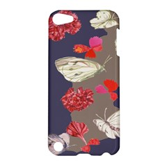 Original Butterfly Carnation Apple Ipod Touch 5 Hardshell Case by Mariart