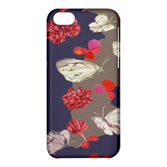 Original Butterfly Carnation Apple Iphone 5c Hardshell Case by Mariart