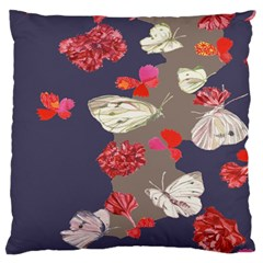Original Butterfly Carnation Standard Flano Cushion Case (one Side) by Mariart