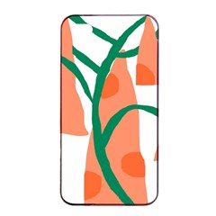 Portraits Plants Carrot Polka Dots Orange Green Apple Iphone 4/4s Seamless Case (black) by Mariart