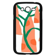 Portraits Plants Carrot Polka Dots Orange Green Samsung Galaxy Grand Duos I9082 Case (black) by Mariart