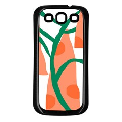 Portraits Plants Carrot Polka Dots Orange Green Samsung Galaxy S3 Back Case (black) by Mariart