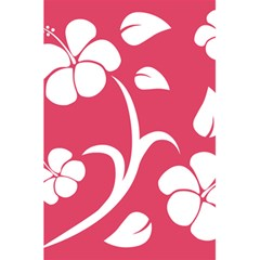 Pink Hawaiian Flower White 5 5  X 8 5  Notebooks by Mariart