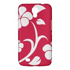 Pink Hawaiian Flower White Samsung Galaxy Mega 6 3  I9200 Hardshell Case by Mariart