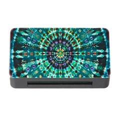 Peacock Throne Flower Green Tie Dye Kaleidoscope Opaque Color Memory Card Reader With Cf by Mariart
