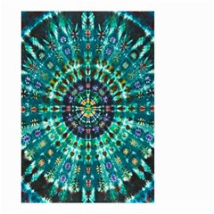 Peacock Throne Flower Green Tie Dye Kaleidoscope Opaque Color Small Garden Flag (two Sides) by Mariart