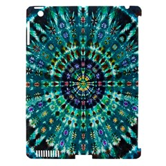 Peacock Throne Flower Green Tie Dye Kaleidoscope Opaque Color Apple Ipad 3/4 Hardshell Case (compatible With Smart Cover) by Mariart