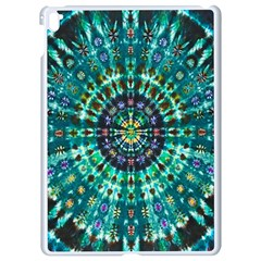 Peacock Throne Flower Green Tie Dye Kaleidoscope Opaque Color Apple Ipad Pro 9 7   White Seamless Case by Mariart