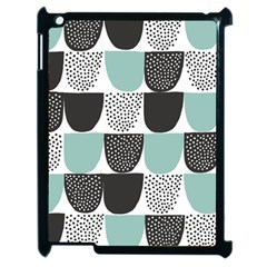 Sugar Blue Fabric Polka Dots Circle Apple Ipad 2 Case (black) by Mariart