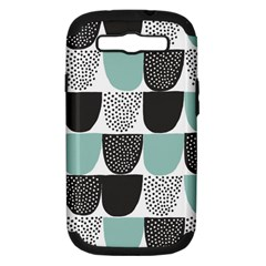 Sugar Blue Fabric Polka Dots Circle Samsung Galaxy S Iii Hardshell Case (pc+silicone) by Mariart