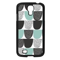 Sugar Blue Fabric Polka Dots Circle Samsung Galaxy S4 I9500/ I9505 Case (black) by Mariart
