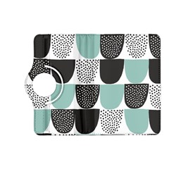 Sugar Blue Fabric Polka Dots Circle Kindle Fire Hd (2013) Flip 360 Case by Mariart