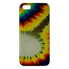 Red Blue Yellow Green Medium Rainbow Tie Dye Kaleidoscope Opaque Color Iphone 5s/ Se Premium Hardshell Case by Mariart