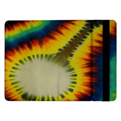 Red Blue Yellow Green Medium Rainbow Tie Dye Kaleidoscope Opaque Color Samsung Galaxy Tab Pro 12 2  Flip Case by Mariart