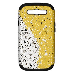 Spot Polka Dots Orange Black Samsung Galaxy S Iii Hardshell Case (pc+silicone) by Mariart