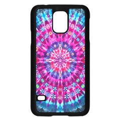 Red Blue Tie Dye Kaleidoscope Opaque Color Circle Samsung Galaxy S5 Case (black) by Mariart