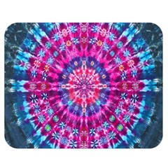 Red Blue Tie Dye Kaleidoscope Opaque Color Circle Double Sided Flano Blanket (medium)  by Mariart