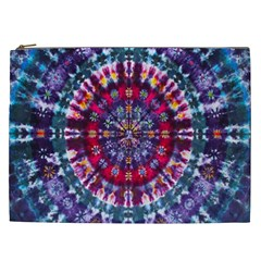 Red Purple Tie Dye Kaleidoscope Opaque Color Cosmetic Bag (xxl)  by Mariart