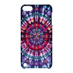 Red Purple Tie Dye Kaleidoscope Opaque Color Apple Ipod Touch 5 Hardshell Case With Stand by Mariart