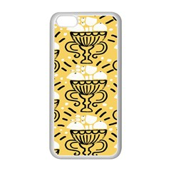 Trophy Beers Glass Drink Apple Iphone 5c Seamless Case (white) by Mariart