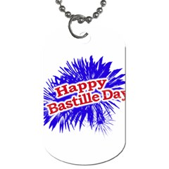 Happy Bastille Day Graphic Logo Dog Tag (one Side) by dflcprints