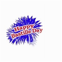 Happy Bastille Day Graphic Logo Large Garden Flag (two Sides) by dflcprints