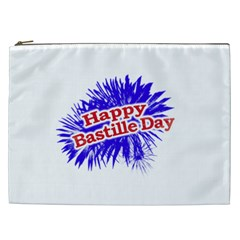 Happy Bastille Day Graphic Logo Cosmetic Bag (xxl)  by dflcprints