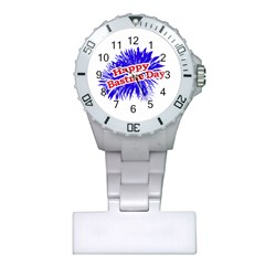 Happy Bastille Day Graphic Logo Plastic Nurses Watch by dflcprints