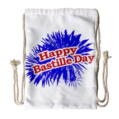 Happy Bastille Day Graphic Logo Drawstring Bag (large) by dflcprints