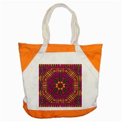 Feather Stars Mandala Pop Art Accent Tote Bag by pepitasart