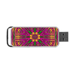 Feather Stars Mandala Pop Art Portable Usb Flash (two Sides) by pepitasart