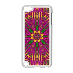 Feather Stars Mandala Pop Art Apple Ipod Touch 5 Case (white) by pepitasart