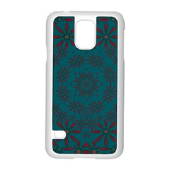 Stars Of Golden Metal Samsung Galaxy S5 Case (white) by pepitasart