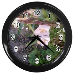 Wildflowers On The Boise River Wall Clocks (Black)