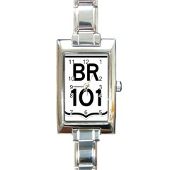 Brazil Br 101 Transcoastal Highway  Rectangle Italian Charm Watch by abbeyz71