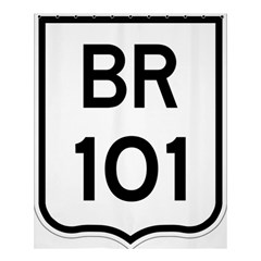 Brazil Br 101 Transcoastal Highway  Shower Curtain 60  X 72  (medium)  by abbeyz71