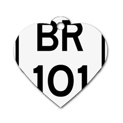 Brazil Br 101 Transcoastal Highway  Dog Tag Heart (two Sides) by abbeyz71