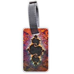 The Eye Of Julia, A Rainbow Fractal Paint Swirl Luggage Tags (two Sides) by jayaprime